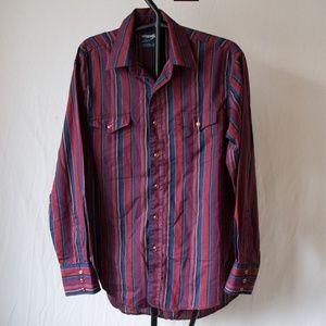 Vintage Wrangler Rhinestone Snap Western Shirt XL